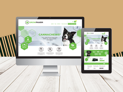 Grow Pharmaceuticals Branding + Website