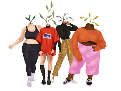 Plant People illustration plant illustration digital illustration painting figure drawing plant digital painting digitalart graphic