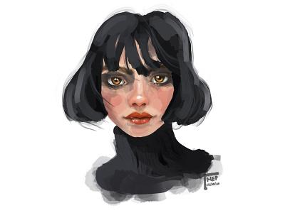 Dark Portrait graphic portfolio portrait painting portrait art portrait digital illustration digital painting digital art illustration