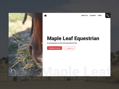 Maple Leaf Equestrian Homepage Design