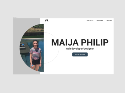 Personal Site Header Design