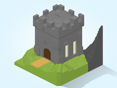 Isometric Castle Graphic house graphic game art games illustration isometric game