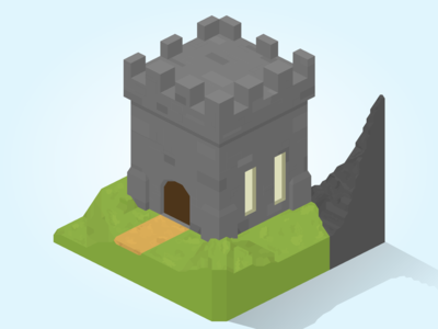 Isometric Castle Graphic