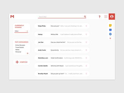 Gmail Redesign gmail redesign google web material ui material