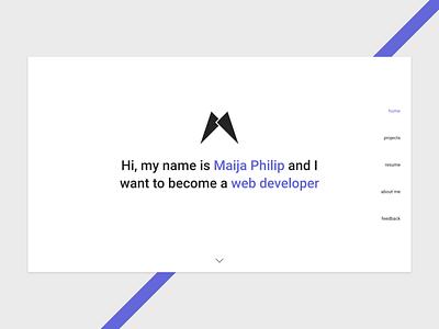 Minimalistic Home Page simple resume minimalist modern web