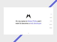 Minimalistic Home Page