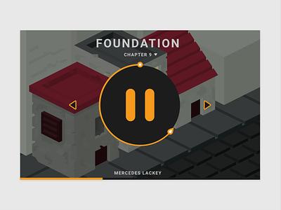 Audible Player flat ui web design web design webdesign amazon orange book player audio player audible
