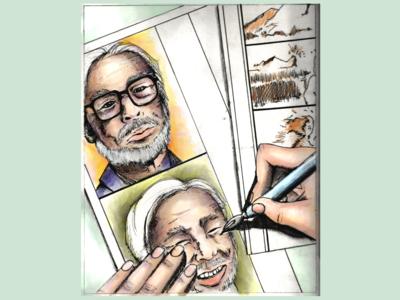 Hayao Miyazaki Stylized Portrait