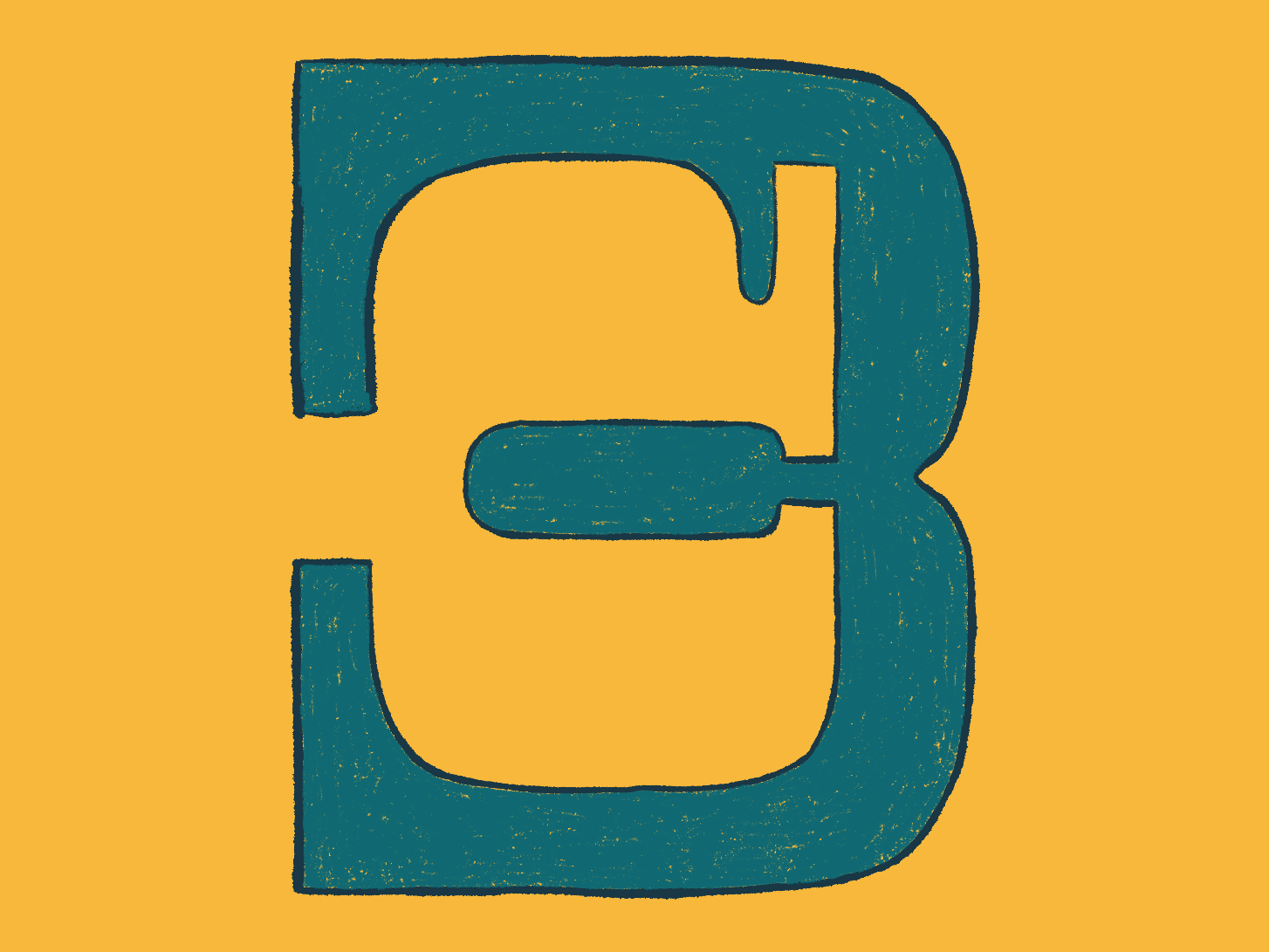 CB lettering type icon branding typography logo design illustration