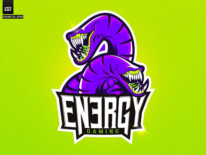 Logo Energy Gaming gaming logo gaming enguia vector tipografia illustration desenhar vetor atlética sportslogo logotipo ilustração e-sportslogo