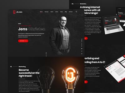Website Agency - Dark Theme elegant modern minimalist trend dark agency dark theme homepage website design