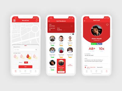 Donor Blood Apps uiux ui uidesign mobile app design mobile app mobile design design app mobile ui