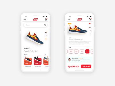 Piero Shop Mobile Apps design uiux uidesign ui design app mobile ui mobile design mobile app design mobile app