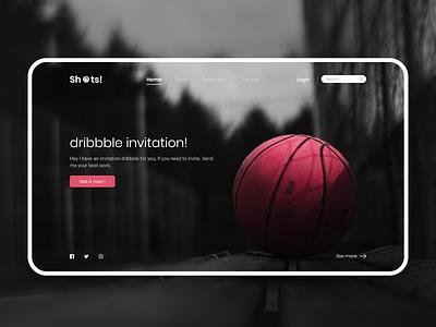 Dribbble Invitation adobe xd website concept mobile ui mobile design mobile app design mobile app website design design app uidesign uiux