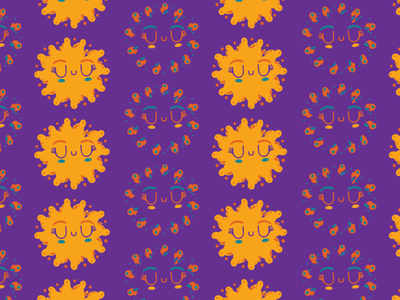 Weird cute sun flower, not a sunflower but a sun/flower tribal kidlitart purple colorstudy doddle cute patterndesign digital illustration illustration art patternaday pattern art kids illustration illustrator kawaii art kawaii