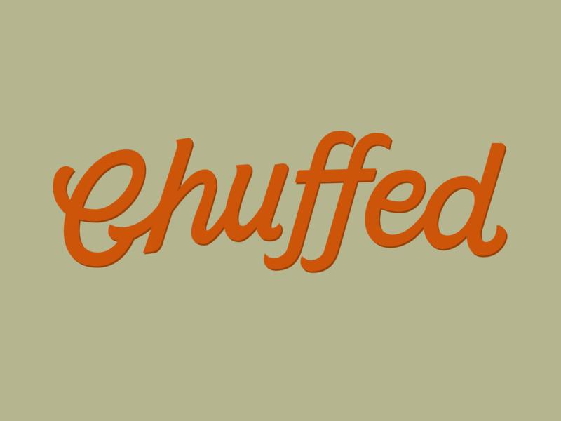 Chuffed hand drawn Word Mark minimal flat branding typography vector logo hand drawn lettermark lettering typedesign type