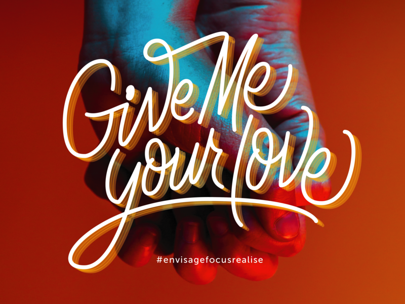 Give Me Your Love Cover Design hand drawn typography typedesign minimal type vector branding design logo lettermark lettering