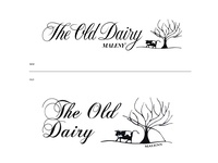 The Old Dairy Maleny Logotype improvement