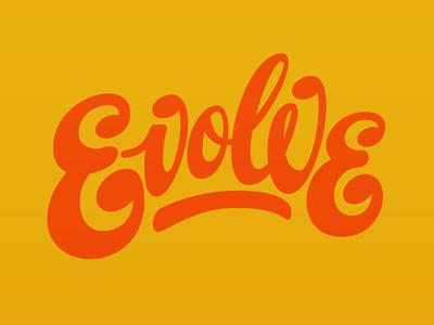 Evolve lettering