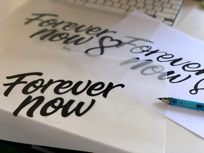 Process sketches - Forever Now Logo