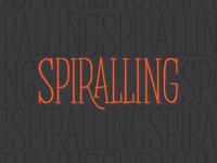 Work in progress typeface