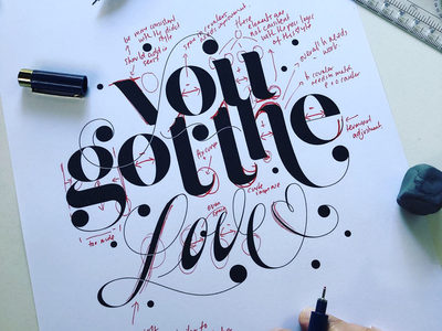 Self Critique of typography piece. logodesign handdrawn process spencerian typedesign lettering lockup typography wip
