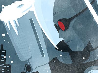 Freeze vector batman illustration poster