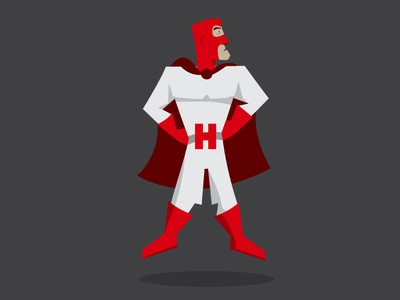 Heroic Review superhero vector illustration