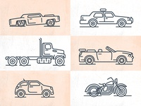 Vehicle Line Icons