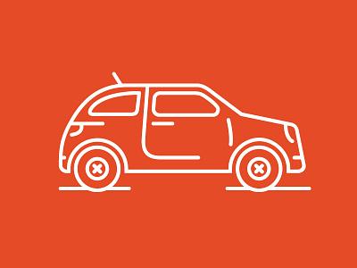 Compact Car Line Icon vector compact car icon set line icon