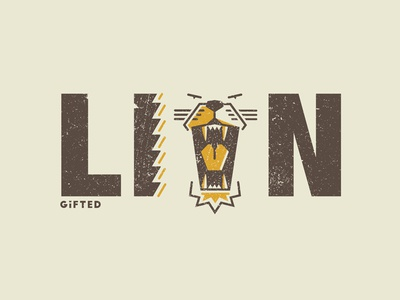 Gifted Lion logo t-shirt design lion helvetica typography