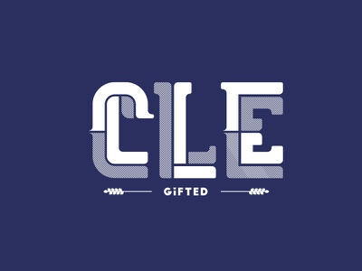 CLE Lettering ohio lettering cleveland