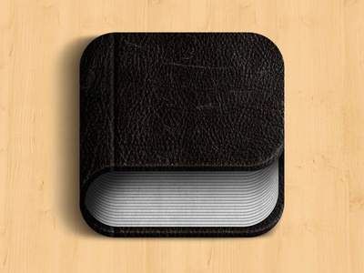 iOS Leather Book Icon
