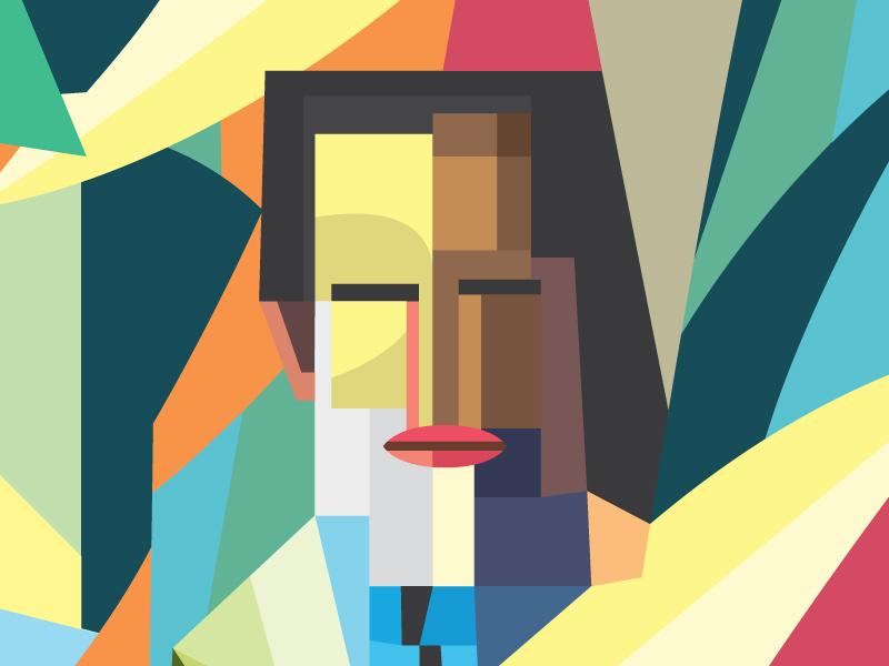 Emilio Petorutti illustration vector cubism futurism petorutti simple colorful wine packaging