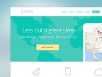 Flat Home Page mockup