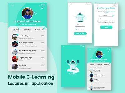 Mobile Elearning flat design app uxdesign ux ui ui design mobile ui mobile app design mobile
