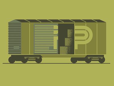 Southern Pixel pixies boxcar train doodle transport
