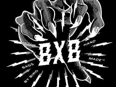 B X B - Hand Made™ lithograph white wizard black branding illustration