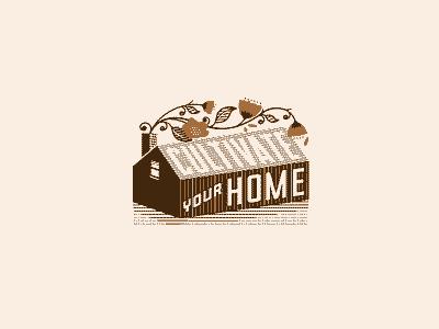 H O M E matchbox typography orange black design icon logo texture branding
