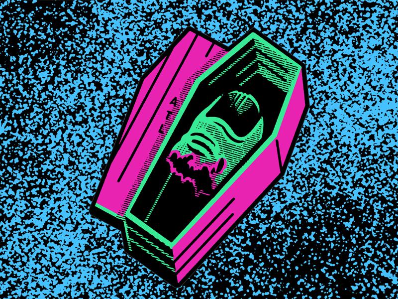T O E  atl cut stuff texture neon coffin toe