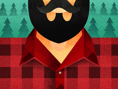 F is for Flannel warm ups 45min lumberjack texture fannel daily workout illustration