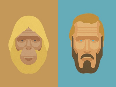 Opposites Attract dr zaius heston planet of the apes portraits