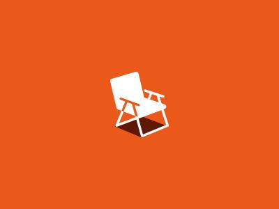 LawnChair Media icon chair logo orange rebound doodle perspective