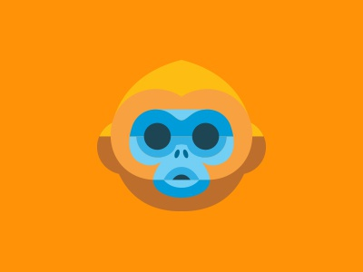Golden Monkey redesign mailchimp icon iphone monkey creepy fucker gold orange