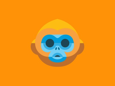 Golden Monkey redesign mailchimp icon iphone monkey creepy fucker gold orange