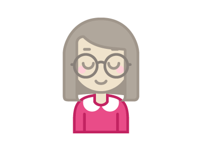 dribbble jackie icon first shot character debut dribbbler monoline self portrait avatar icon