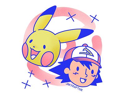 day 5/30 - best friends pikachu ash pokemon best friends 30daydrawingchallenge