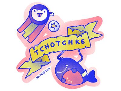 day 7/30 -  favorite word trinkets illustration tchotchke word