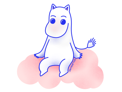 day 8/30 - favorite animated character illustration moomin character