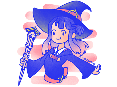 day 9/10 - favorite tv show akko littlewitchacademia drawing witch 30daydrawingchallenge